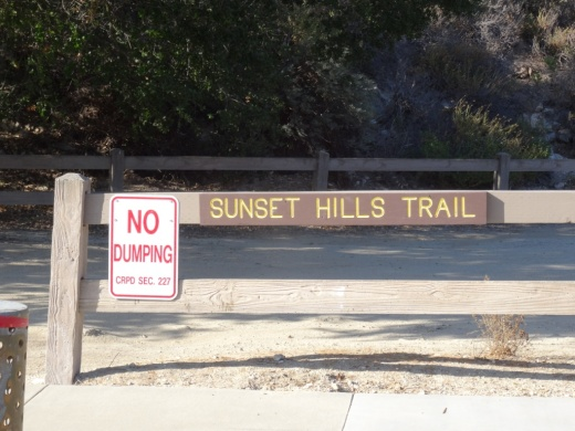 Thou shalt not dump at the Sunset Hills Trail in Thousand Oaks!