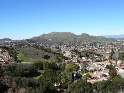 View from east section of Potrero Ridge Trail.