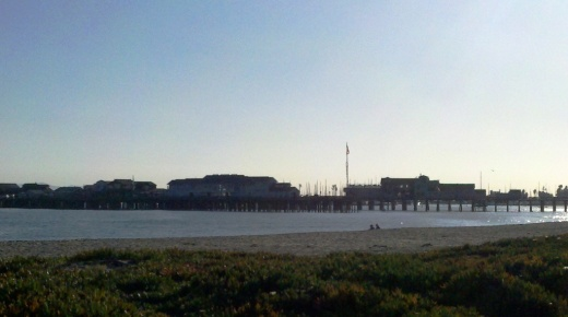 West side of East Beach looking towards Stearns Wharf