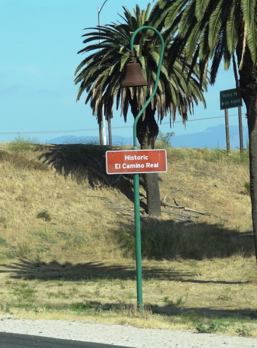 One of those ubiquitous Historic El Camino Real bell markers we see along the 101 Freeway.