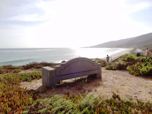 Bench yourself for some nice views of the Pacific Ocean.