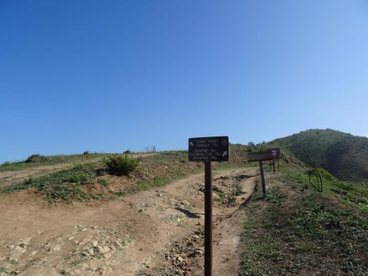 Sign that shows you the Hidden Valley Overlook Trail is on the left.