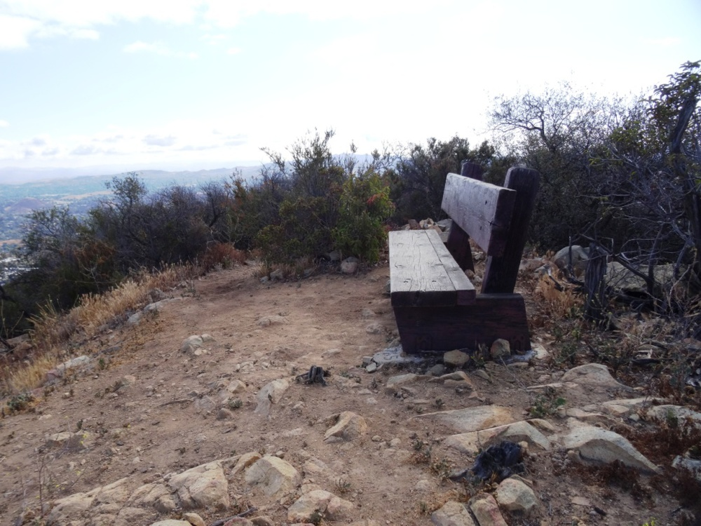 And soon you will see this secluded, old looking bench at the top of the hill.