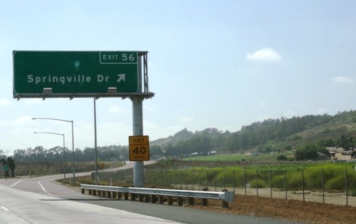 Springville Drive Exit Driving West on the 101