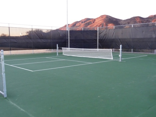 Pickleball court at Del Prado Playgrounds in Newbury Park