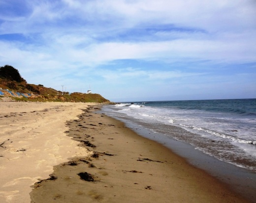 A view of Nicholas Canyon County Beach, just a mile east of Leo Carrillo.