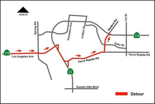 55 Hour Closures of 118 / 23 Freeway Interchange February 7