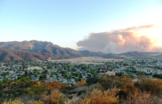 As you can see, the smoke billowing out of Sycamore Canyon dwarfed Boney Mountain