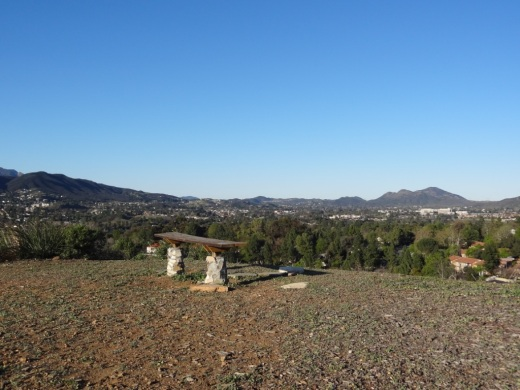One of dozens of benches atop the Conejo Valley Botanic Garden