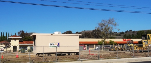 View of the former location of Wienerschnitzel from Thousand Oaks Boulevard