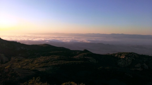 Views from Sandstone Peak looking north towards the Conejo Valley/Ventura County