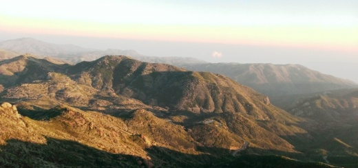 Views from Sandstone Peak looking towards the Pacific Ocean