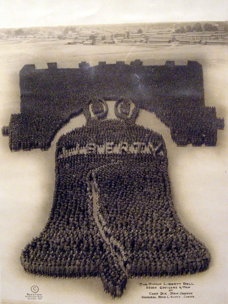 The Human Liberty Bell: 25,000 Officers and Men, Camp Dix, NJ 1918