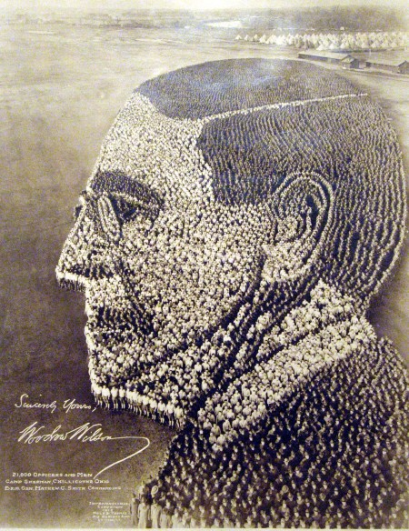Woodrow Wilson: 21,000 Officers and Men, Camp Sherman, OH 1918