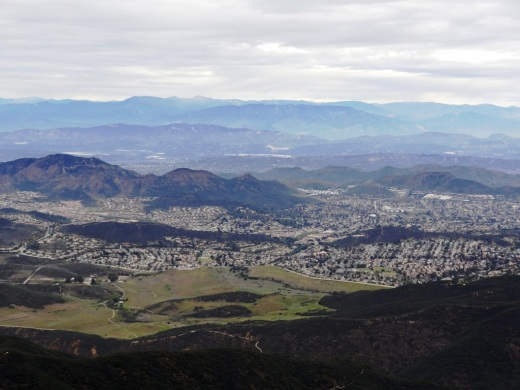 Looking down on Newbury Park from Boney Peak