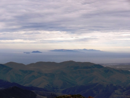 Clear view of the Channel Islands from Boney Peak