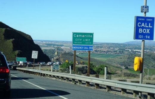 Going down the Conejo Grade from Newbury Park to Camarillo today.