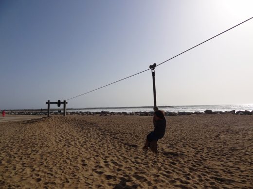 Zipping along on the zip line