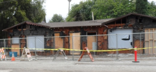 View of what used to be Akrey's Tavern the morning of Wednesday, June 5th.
