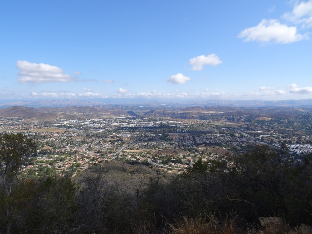 The view looking straight ahead into the Conejo Valley