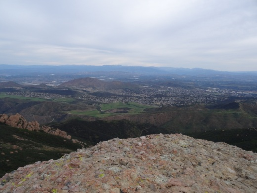 A view of Newbury Park from Boney Peak in March 2015.