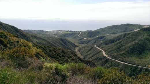 Views towards PCH and Malibu Canyon Road from first of two overlooks.