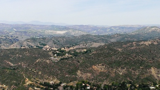 Views of Las Virgenes Canyon looking north from Piuma