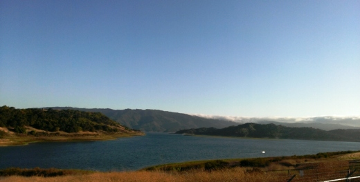A view of the Lake Casitas reservoir