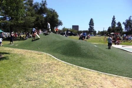 The Ant Hill at Thousand Oaks Community Park. Bring cardboard to slide down on!