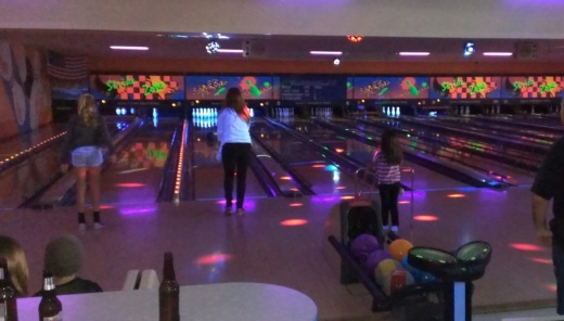 "Who doesn't love ""Cosmic Bowling"" pictured here at Harley's Bowl Camarillo. Especially with the bumpers up!"