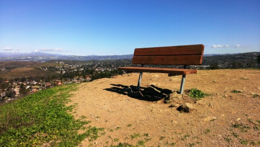Bench on the west side of Tarantula Hill in Thousand Oaks.