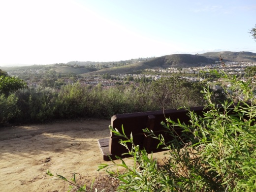 Oakbrook Vista Trail bench off of Lang Ranch Parkway in Thousand Oaks