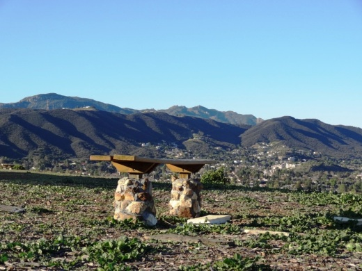 Another bench on the west side of top of the Conejo Valley Botanic Garden.