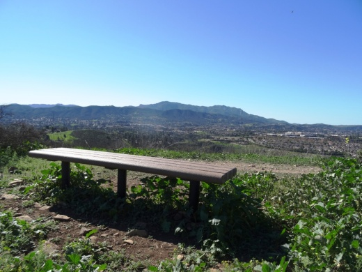 Enjoy views towards Newbury Park, Wildwood Park and so on from this bench on the Lynnmere Trail in Thousand Oaks.