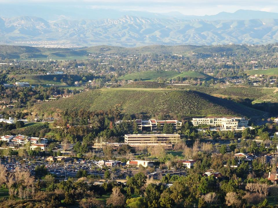 """Fireworks Hill"" in Thousand Oaks, as viewed in greener days of January 2015."