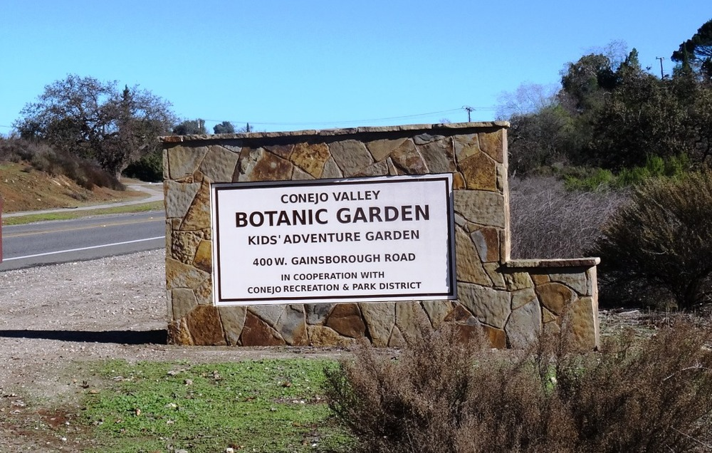 Conejo Valley Botanic Garden New Sign