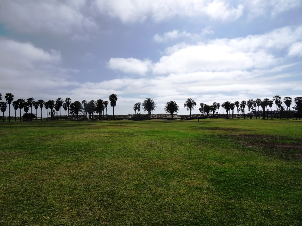 Oxnard Beach Park looking towards the beach.