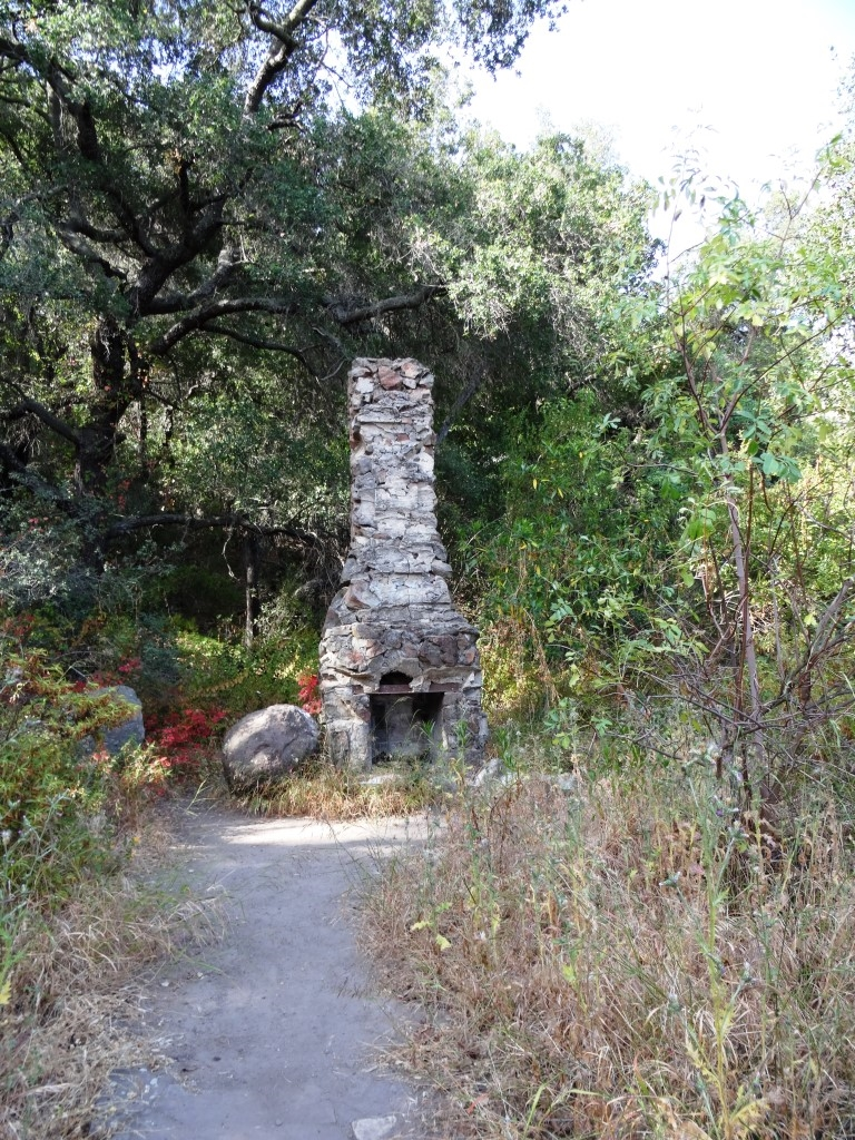 Remnant of Danielson's cabin adjacent to the monument - a chimney.