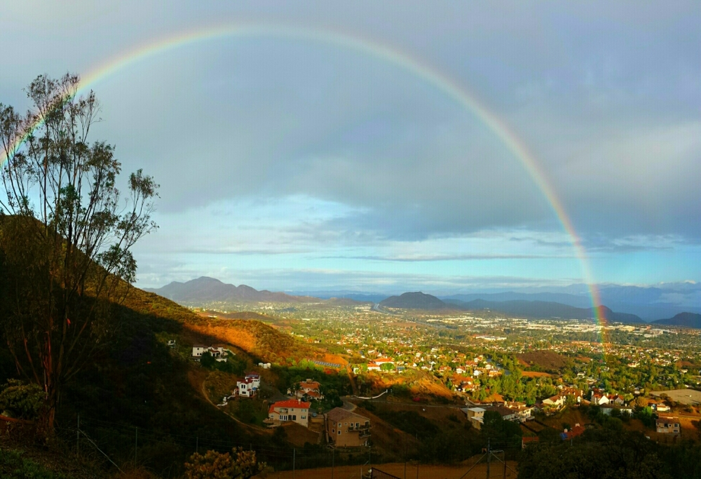 Conejo Valley under a rainbow in November 2014 (Photo Credit L. DAvid Irete)