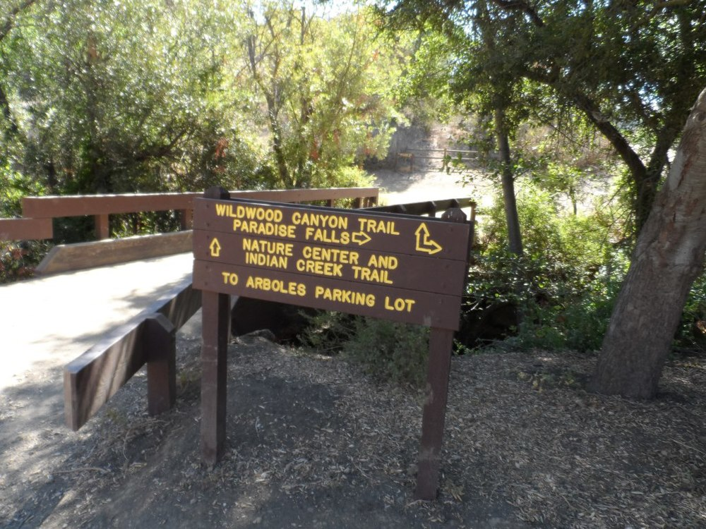 The bridge that intersects the Indian Creek Trail and Wildwood Canyon Trail. Lots of options!