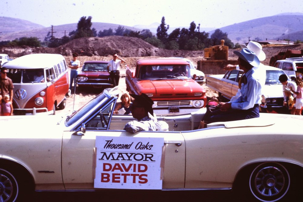 Councilman and Thousand Oaks Mayor David Betts in the 1966 Conejo Valley Days parade.
