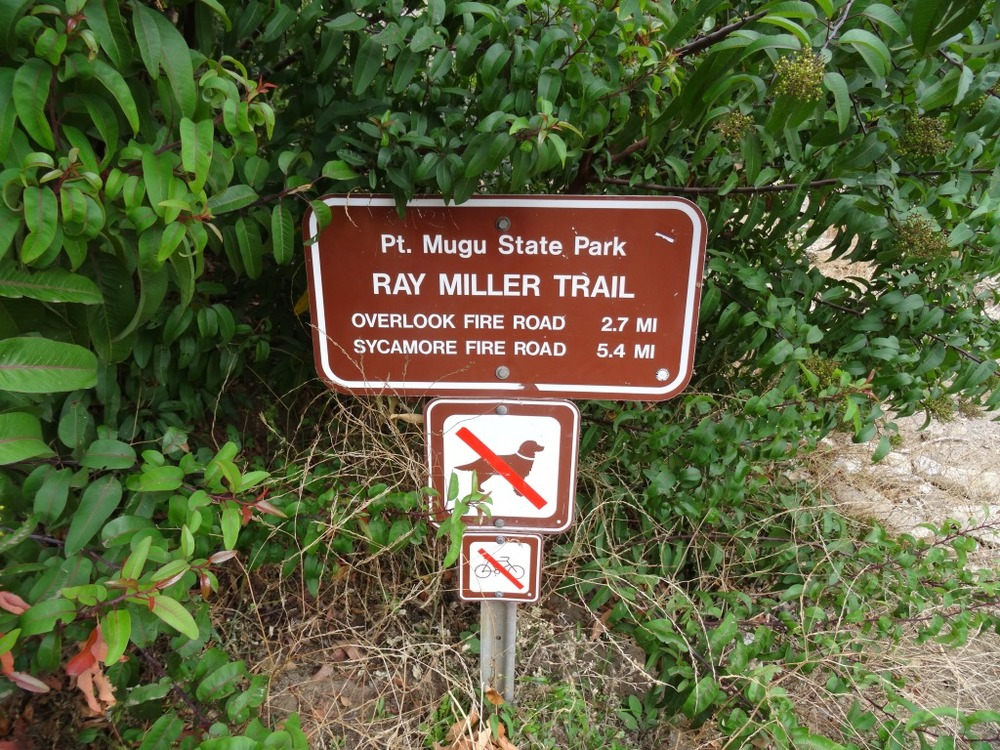 Ray Miller Trail Trailhead Sign