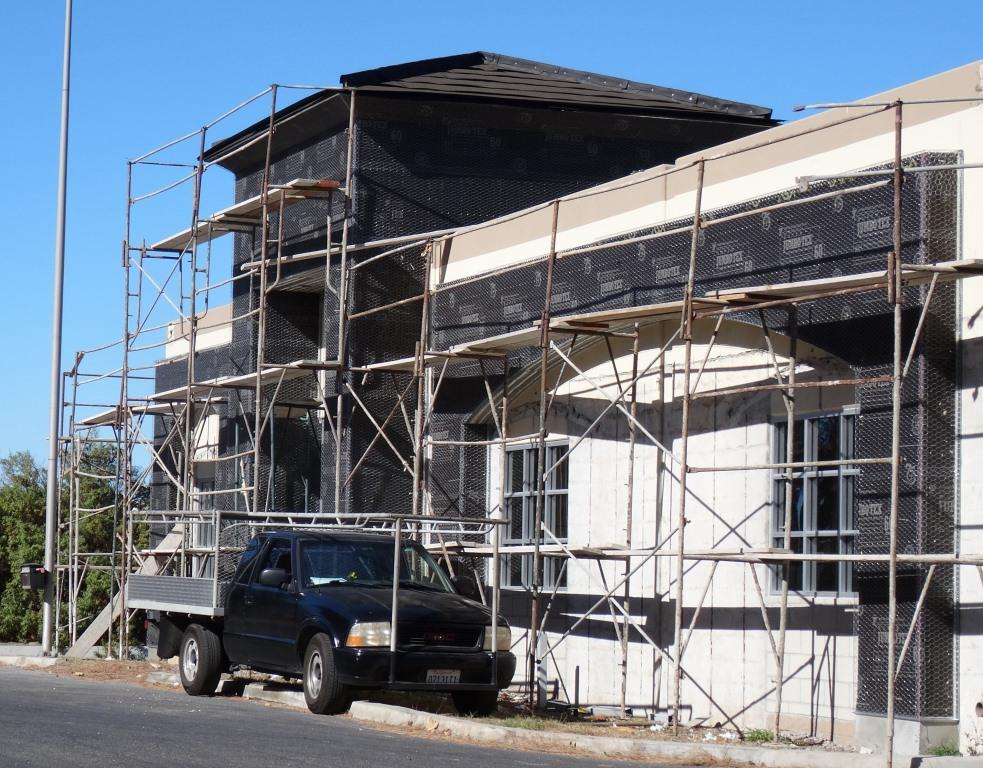Renovation work in process at the new Institution Ale Company in Camarillo