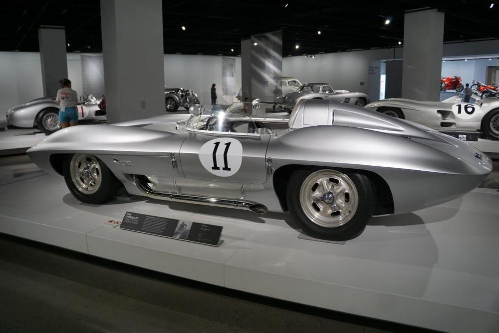 1959 Corvette XP-87 Stingray Racer in Precious Metal exhibit by Rolex