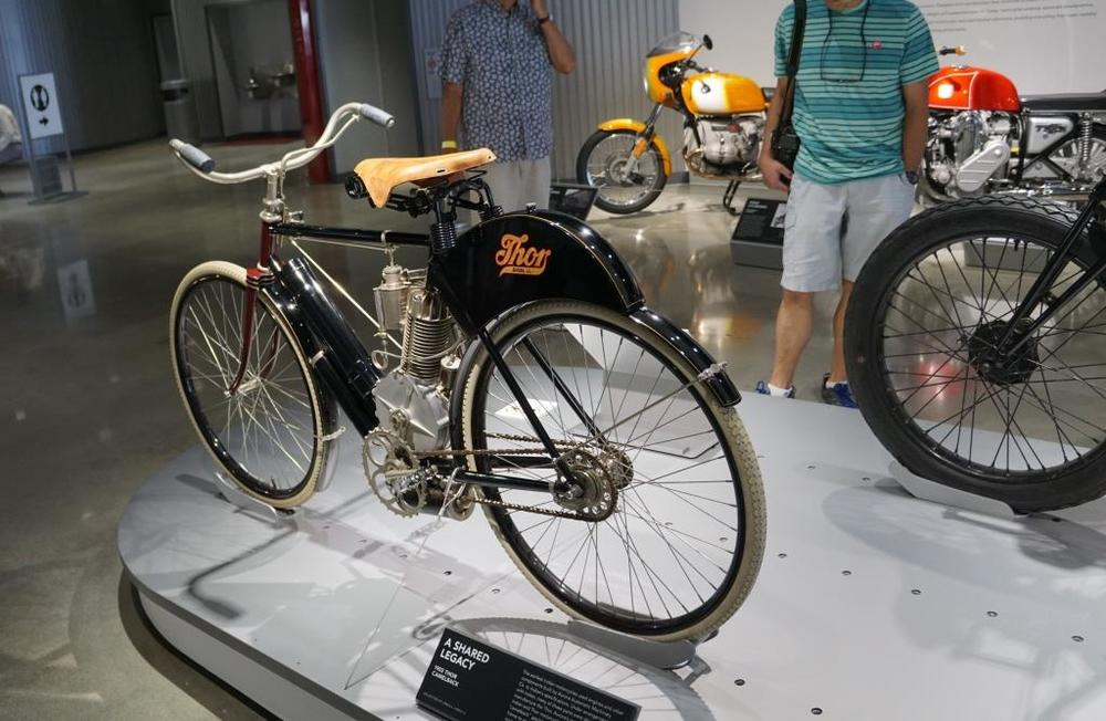 A 1903 Thor Camelback motorcycle that is so pristine it looks nothing like 100+ years old!