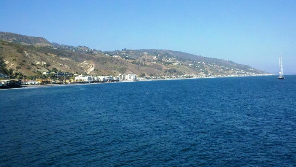 The Carbon Beach coastline as seen from the Malibu Pier