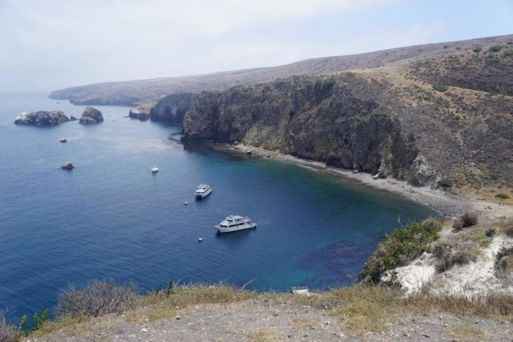 East Santa Cruz Island Scorpion Anchorage, viewed from the Cavern Point trail.