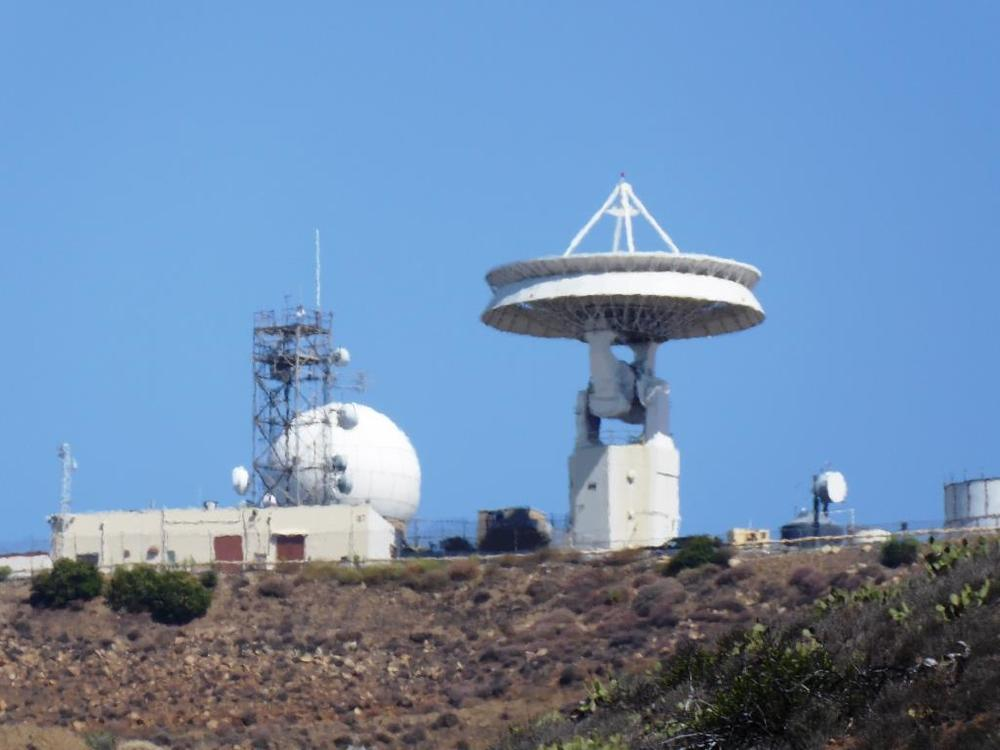 When I look up at the tracking station, The Jetsons come to mind.