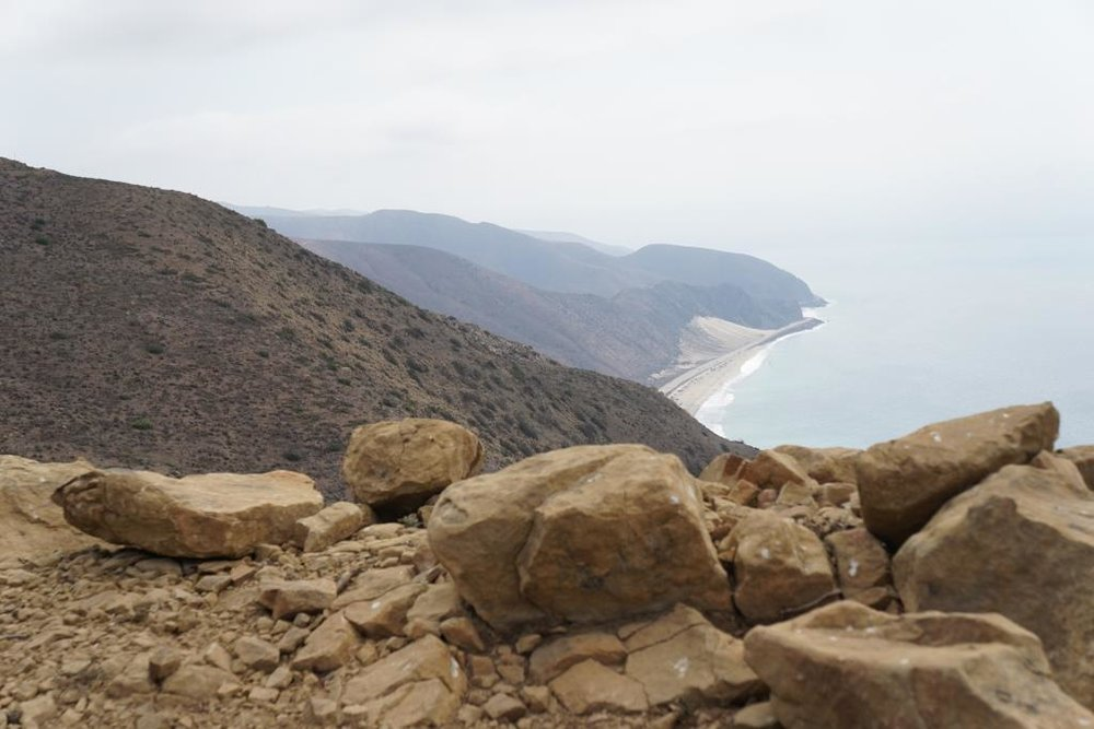 Another view of Thornhill Broome Beach and the large sand dune across PCH from the southeastern edge of the Mugu Peak Trail.