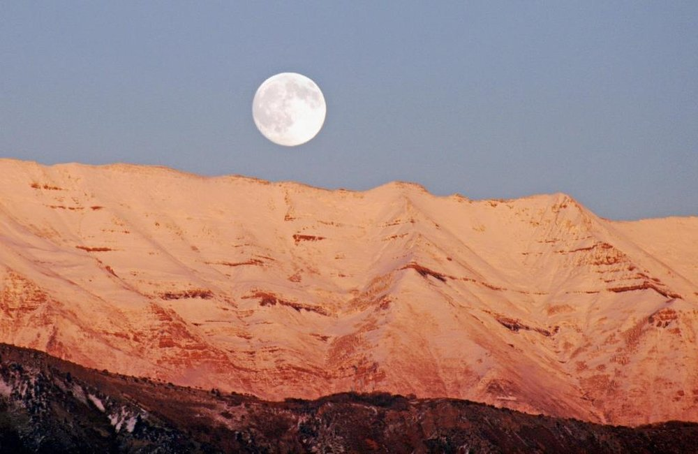 Wasatch Moon, digital photography by Don Scott